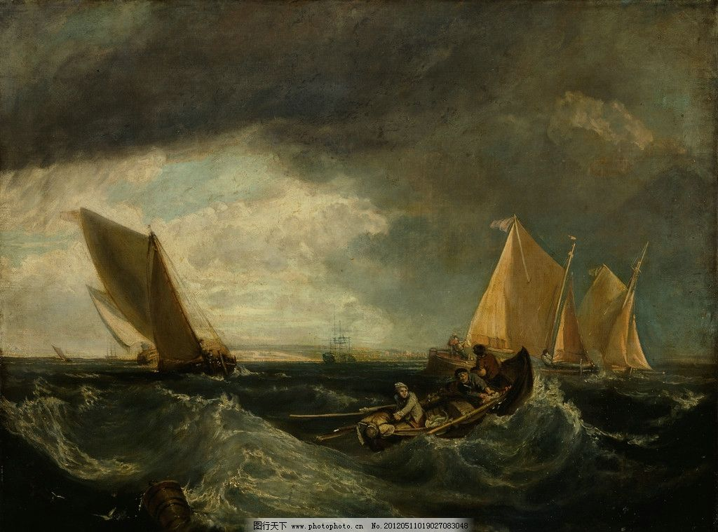 装饰画 艺术 色彩画 欧式壁画 绘画书法 文化艺术 壁画 欧式画 帆船