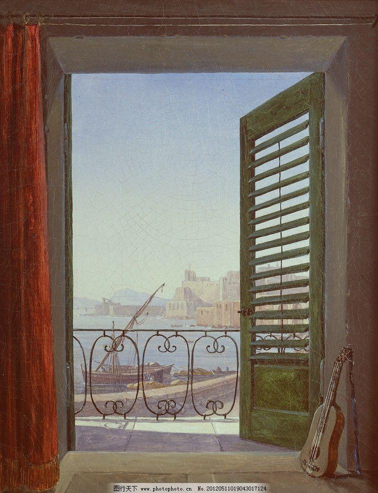 艺术 色彩画 欧式壁画 绘画书法 文化艺术 壁画 欧式画 窗 小提琴