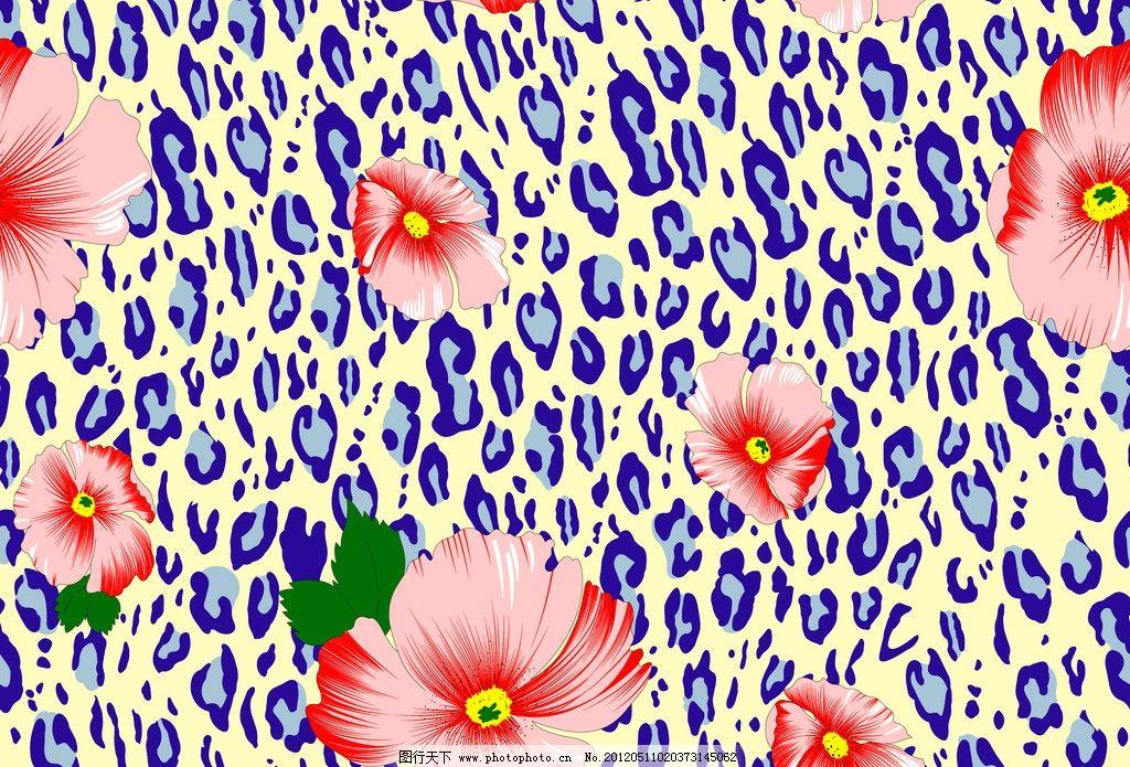 花布 豹纹 设计稿 设计 潮流 印花 绿色 花边花纹 底纹边框 300dpi