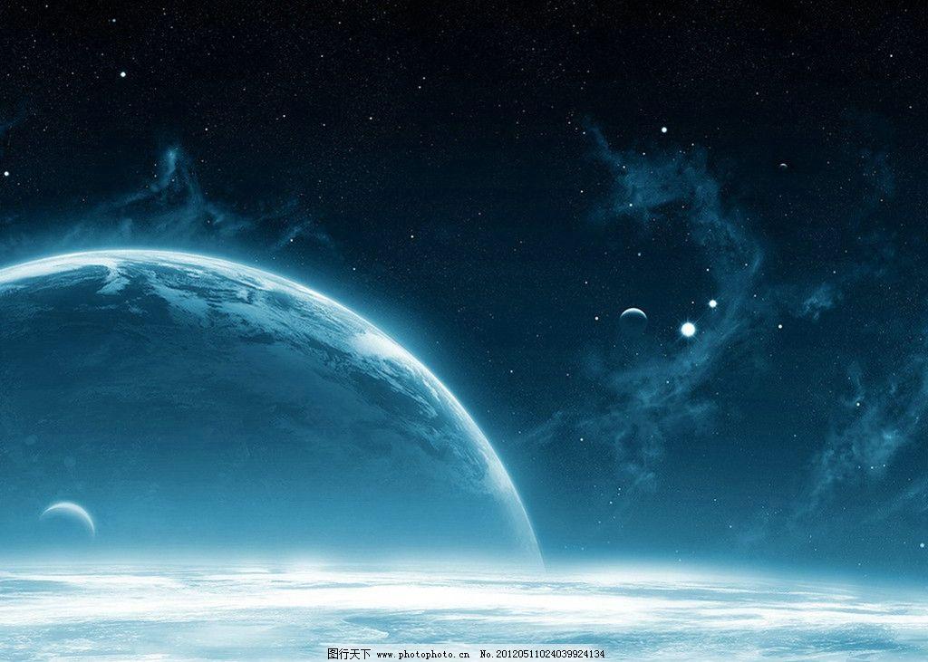 宇宙太空 星空 月球 银河系 人文景观