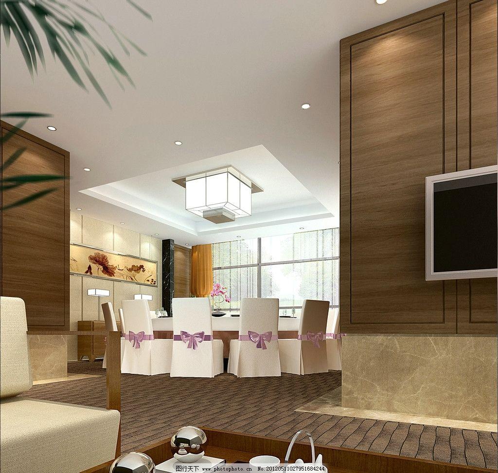 包厢 餐厅包厢 饭店包厢 包厢效果图 餐厅效果图 餐桌 灯具 吊灯 电视
