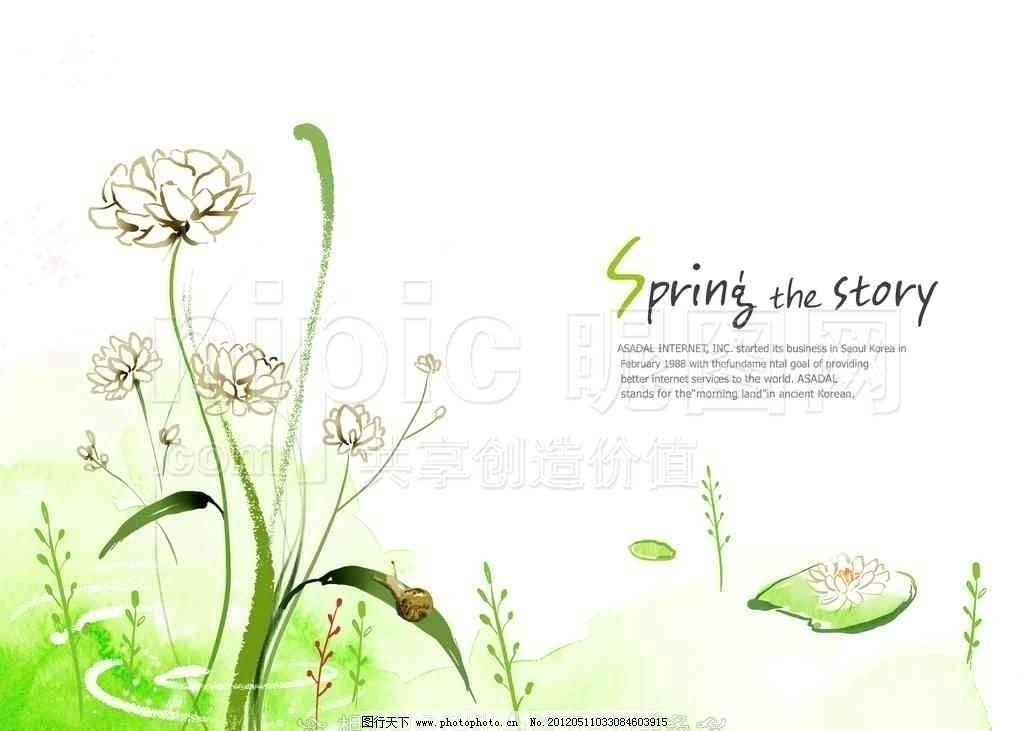 手绘莲花 手绘荷花 白莲 白色荷花 手绘卡通花卉 psd分层素材 源文件