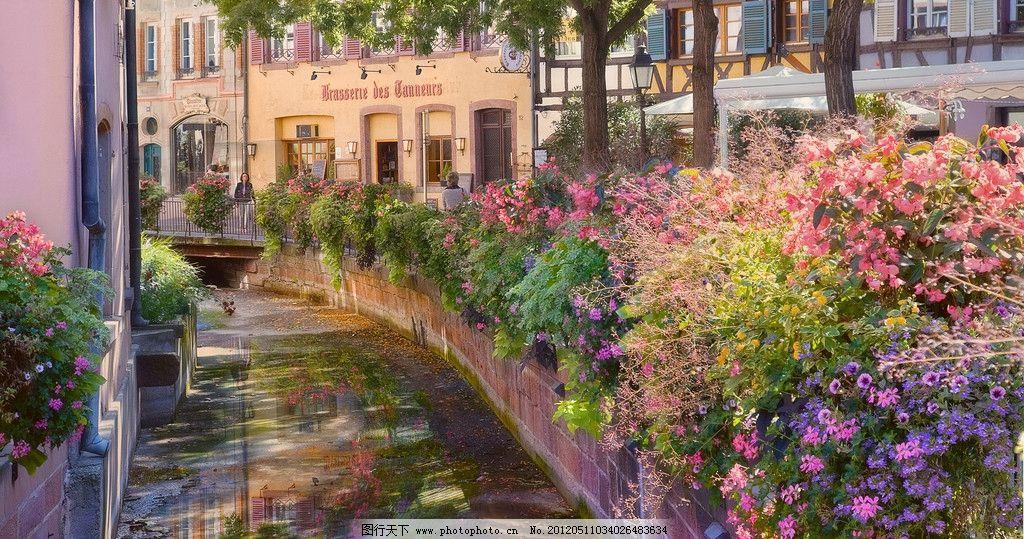 欧洲小屋 欧洲 窗台 花园 欧洲民宅 风光 外国 小镇 窗户 花草 国外图片