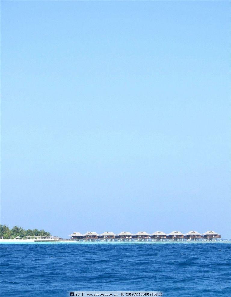 岛屿 度假 海洋 地平线 风景 海滩 蓝天 旅游 平静 水平线