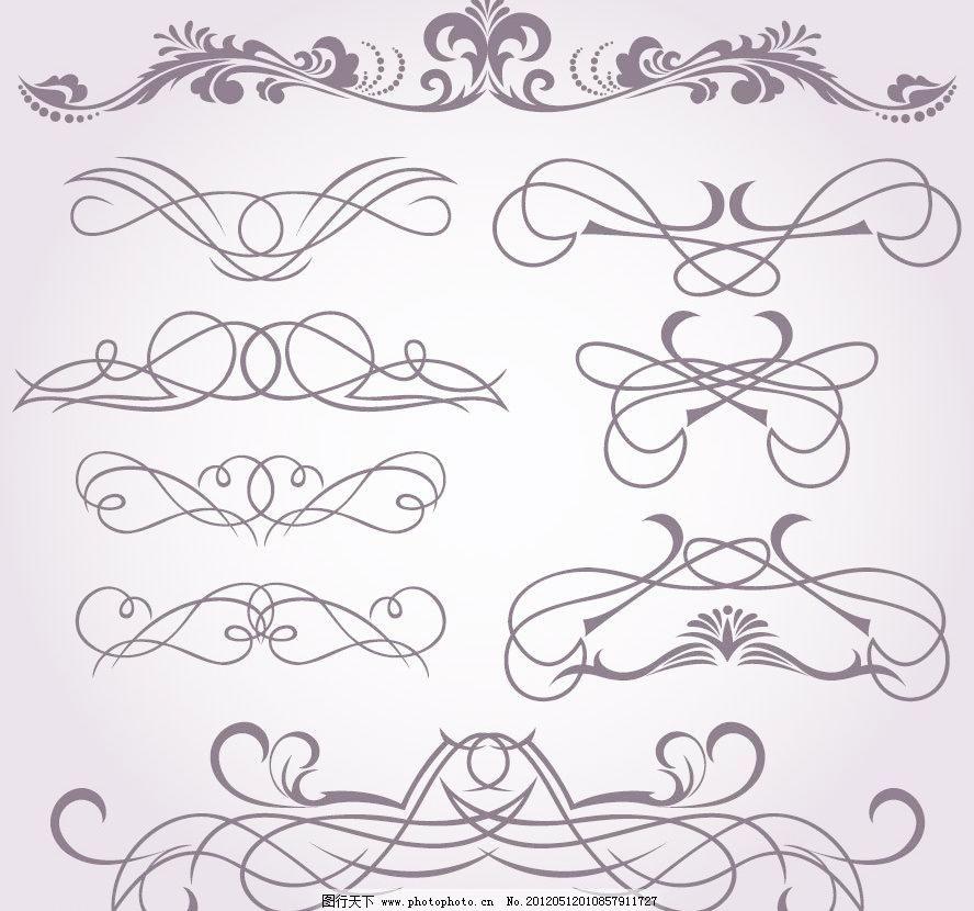 欧式花纹花边装饰 蝴蝶结 背景 潮流 底纹 底纹边框 典雅 动感