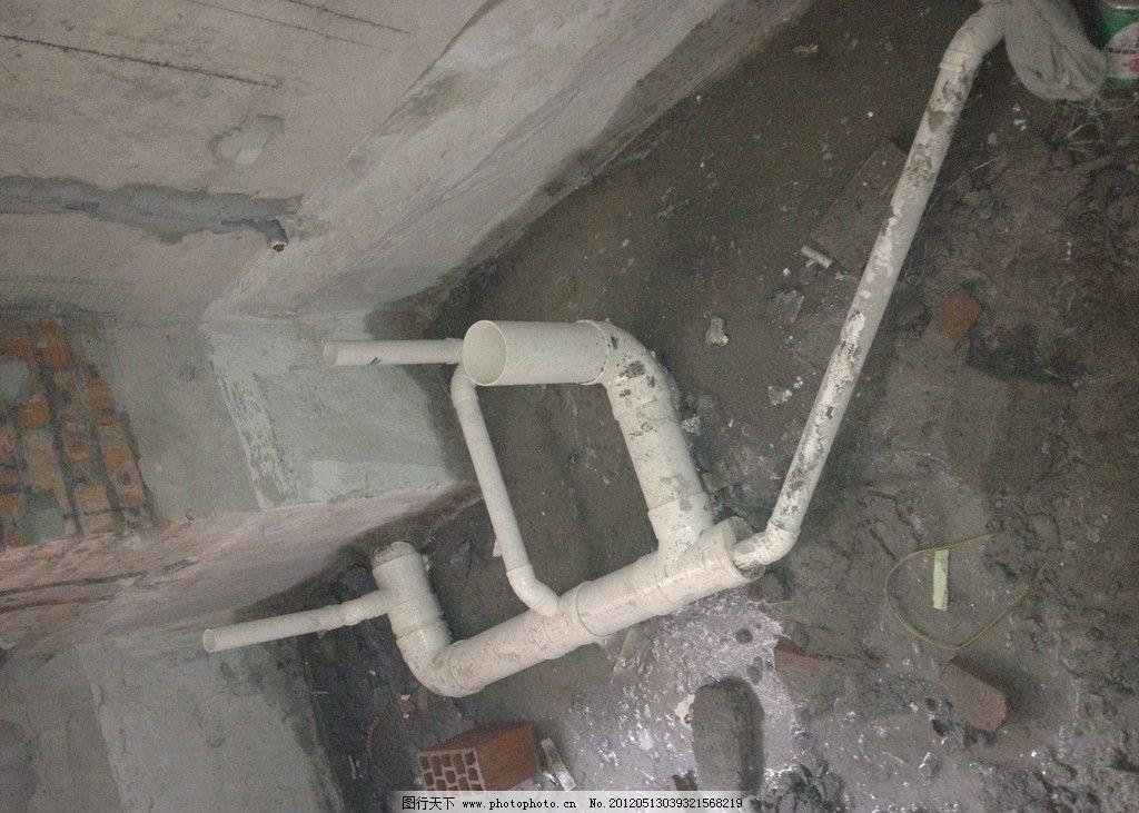 图解卫生间防水施工 工序五 下水管道铺设 室内摄影 建筑园林