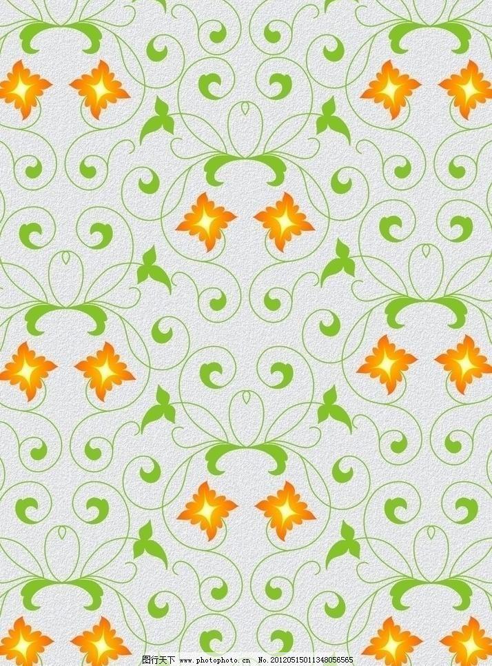 花藤 花纹 底纹 背景 花边 花框 橙色 酒绿色 花窗 花草 花朵 欧式
