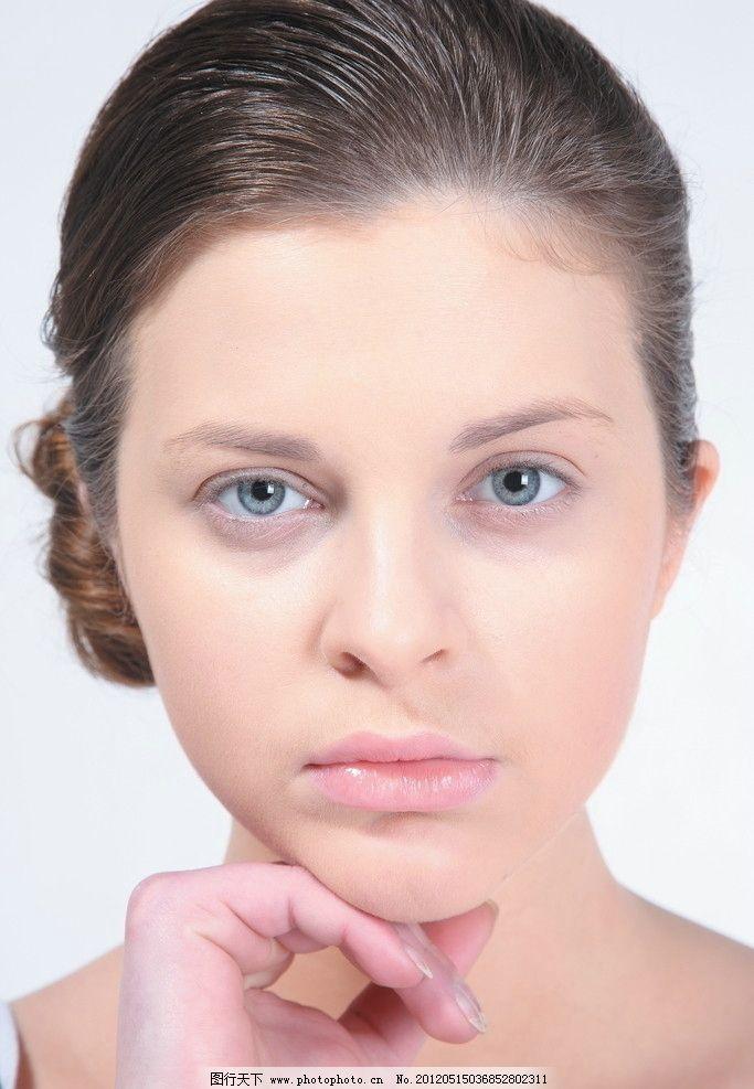 化妆美女 素颜 外国美女 女性女人 人物图库 摄影 72dpi jpg
