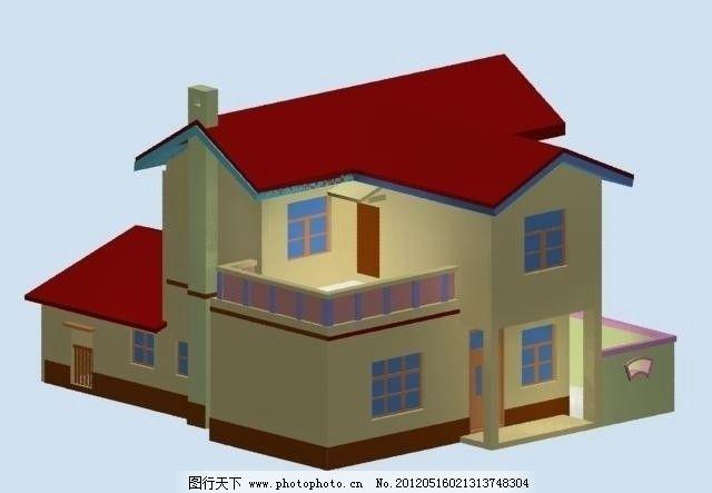 农村别墅室外模型 农村别墅 源文件 3dmax源文件 室外模型 max 3d设计