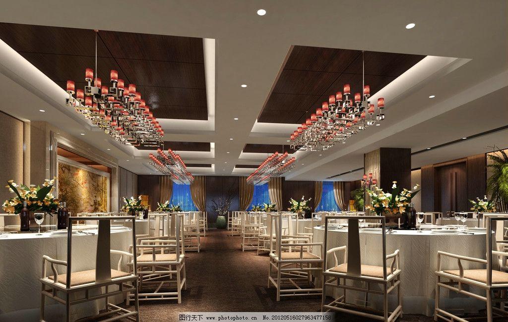酒店宴会厅效果图 中式 餐饮 高雅 奢华 豪华 古典 经典 欧式