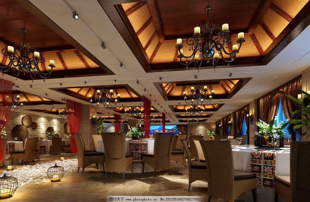 酒店宴会厅效果图巴厘岛风格