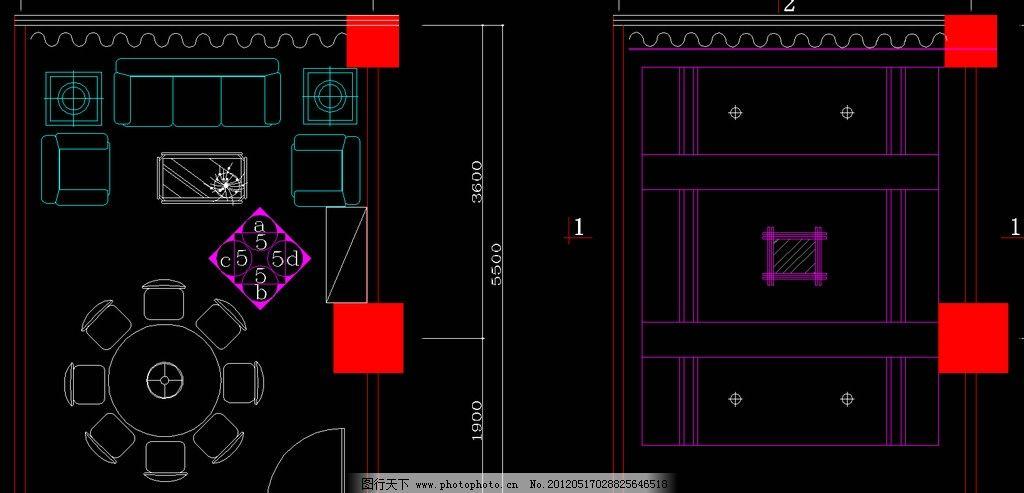 火锅厅 包间平面 天棚布置 室内设计 餐厅 餐饮 源文件