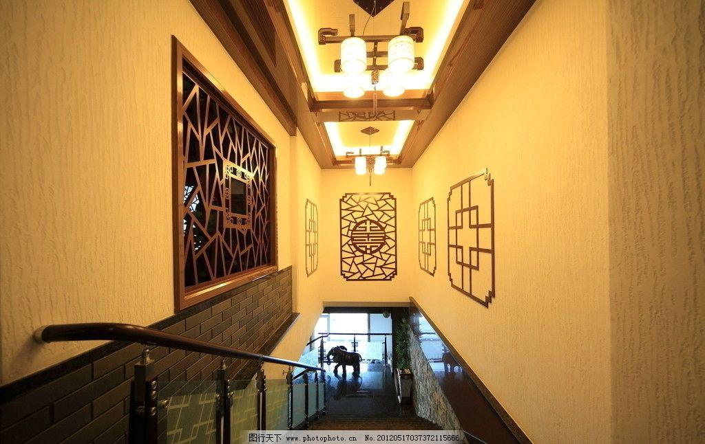 硅藻泥装修的走廊图片