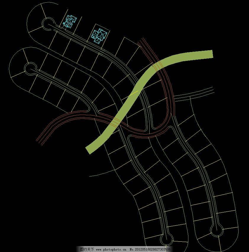 高尔夫别墅 平面布置 图纸 平面图 装修 装饰 施工图 立面图