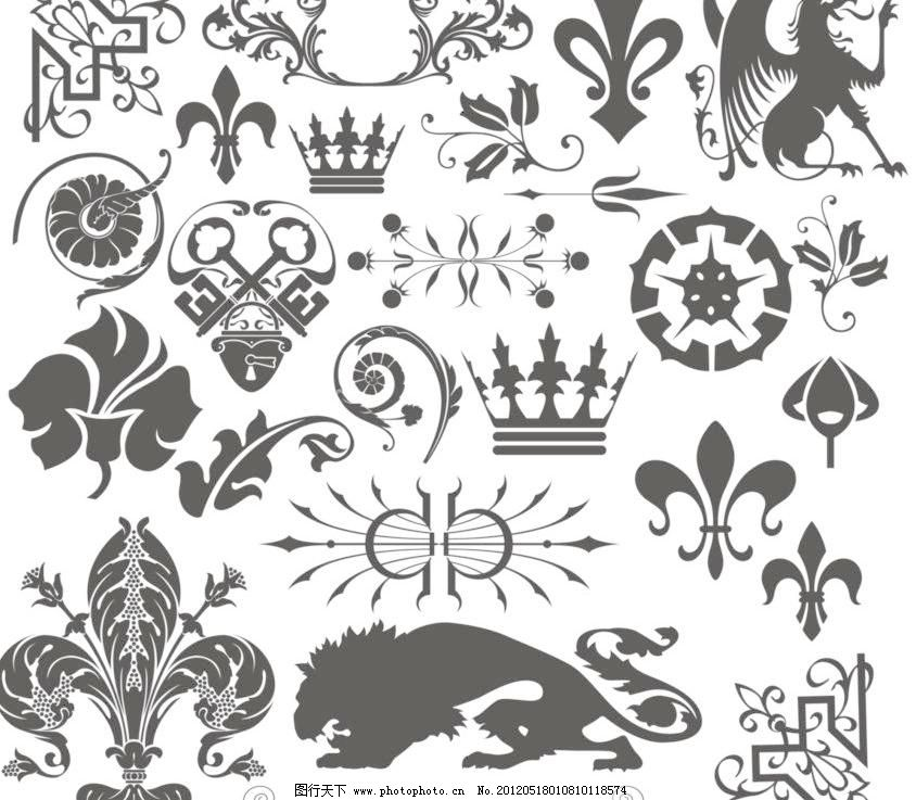 欧式花纹 边框 标签 彩色 潮流 传统 底纹背景 底纹边框 动物