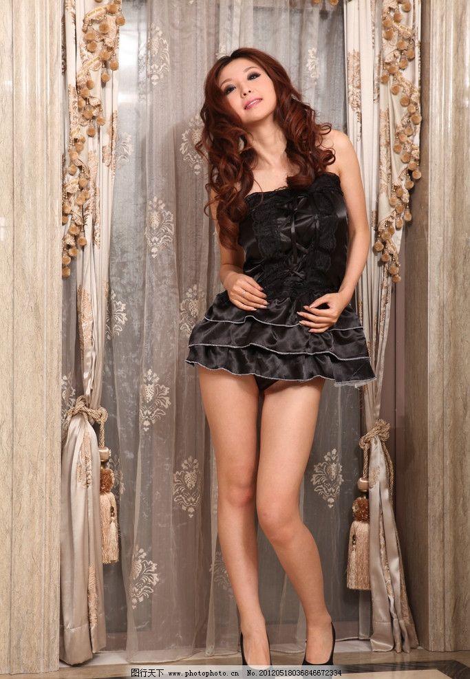 模特白底 7分裙子美女-性感模特白底