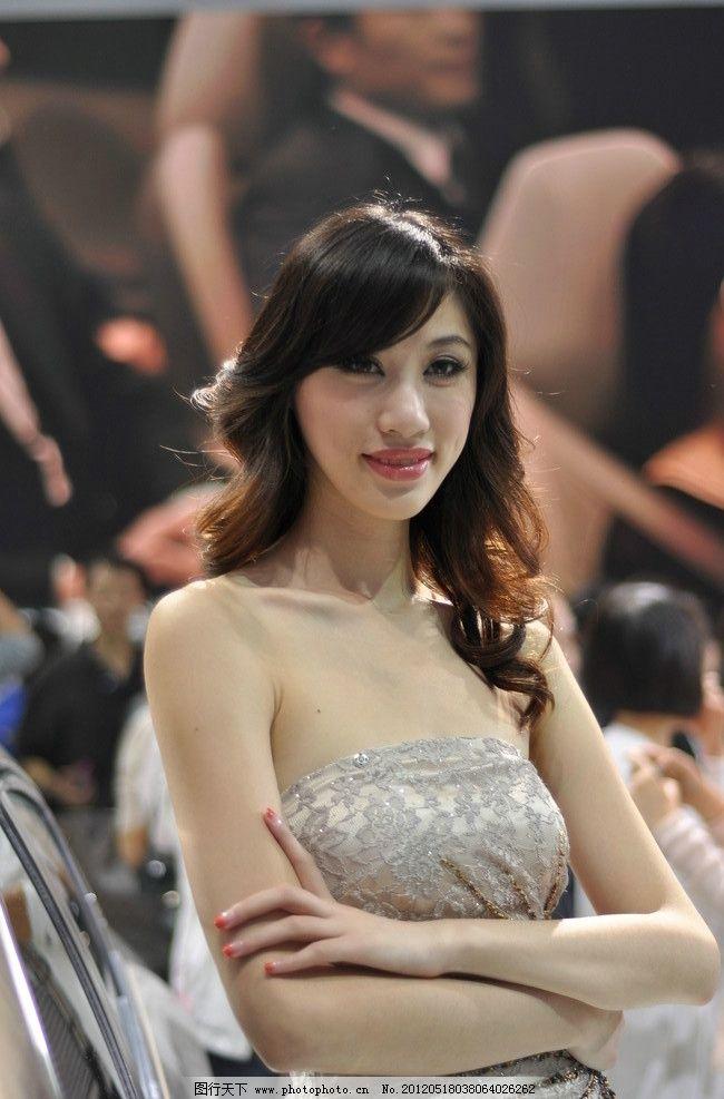车模 美女 人物 漂亮 可爱 性感 汽车展 商务场景 商务金融 摄影 300