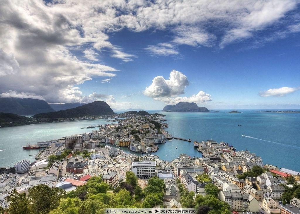 海岛城市图片