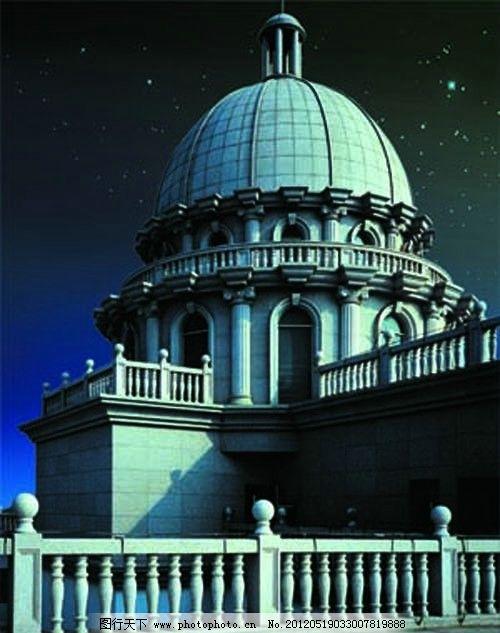 古堡 圆形 圆形建筑 欧式风格 源文件