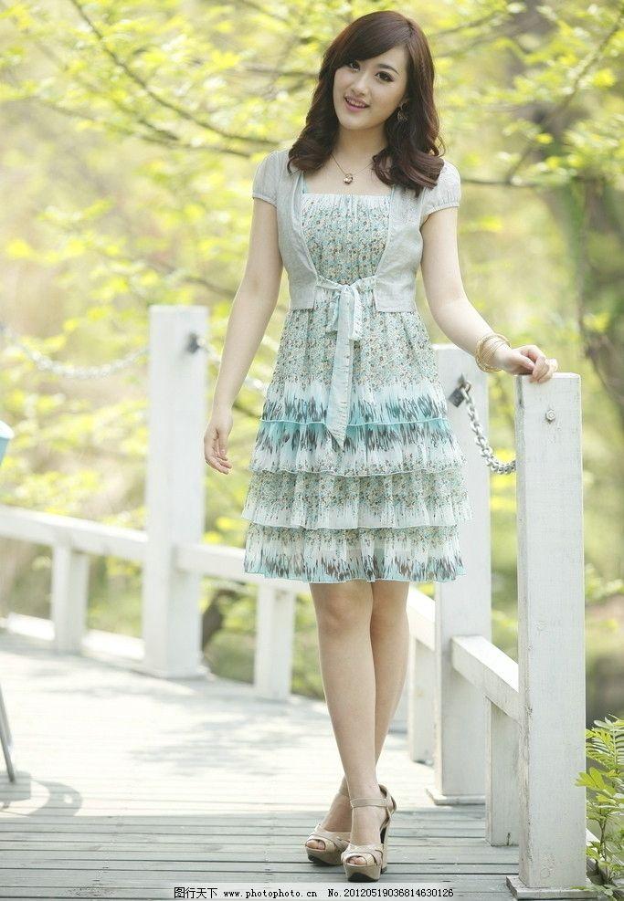 时尚连衣裙 时尚女装 时尚女性 时尚美女 夏日时装 可爱时尚型 女性