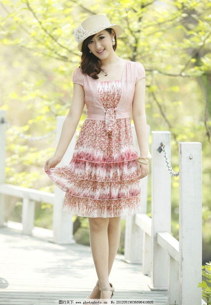 时尚连衣裙 时尚女装 时尚女性 时尚美女 夏日时装 可爱时尚型 女性女