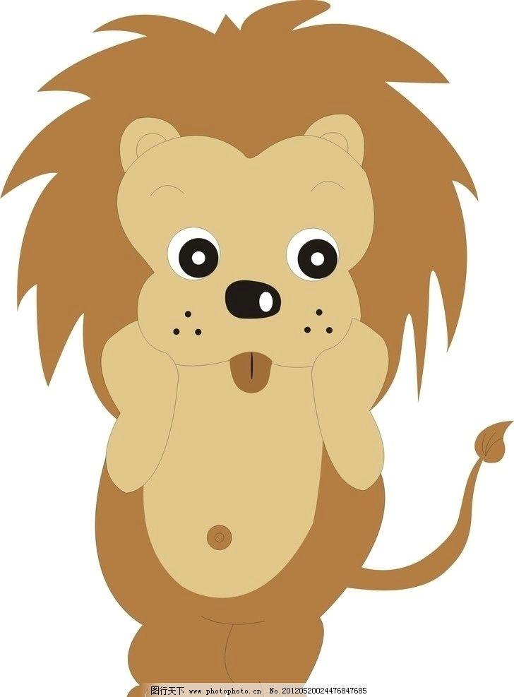 狮子 野生动物 生物世界 矢量 cdr