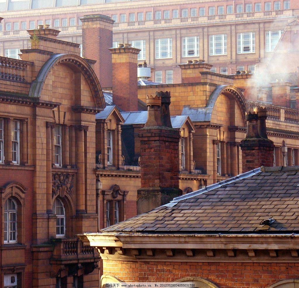 欧洲旅游建筑 欧式 风格 建筑 烟囱 壁纸 桌布 红砖 工业 摄影 风景