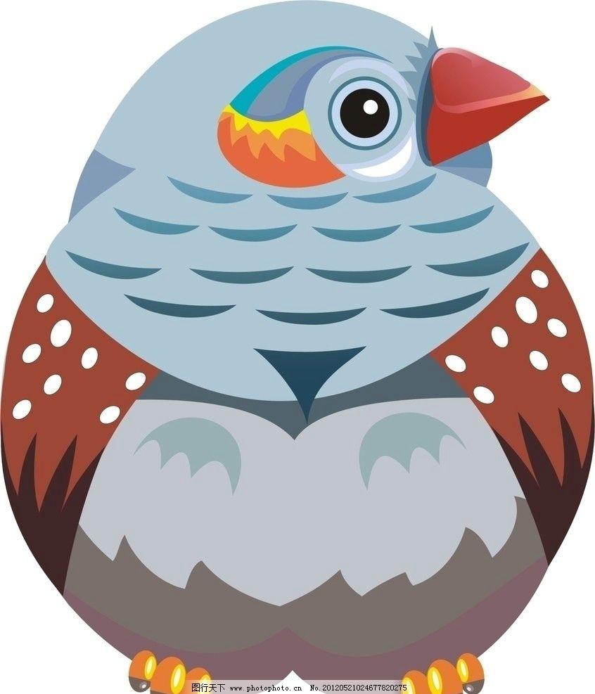 彩色可爱简笔画小鸟
