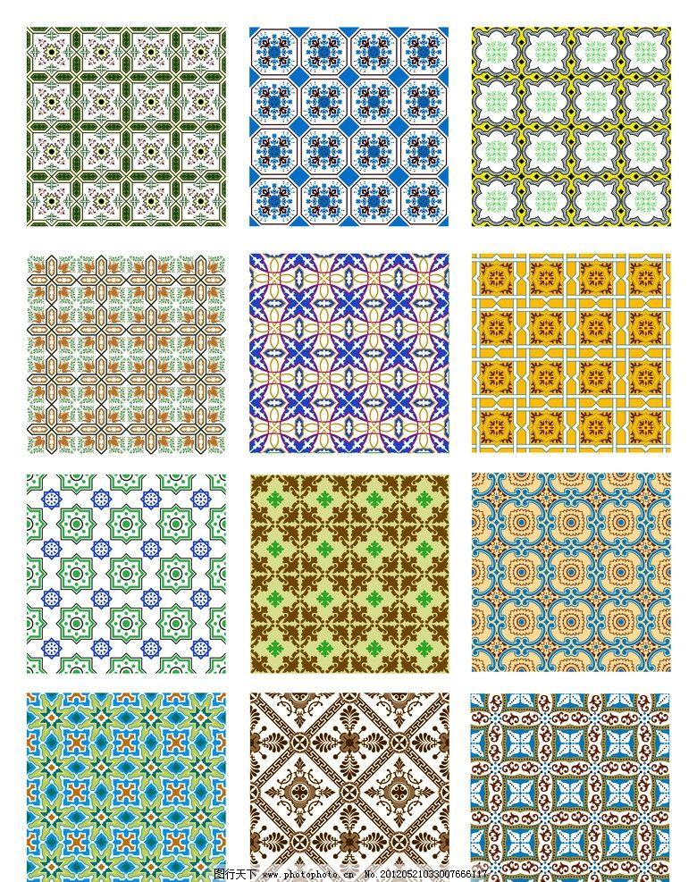 底纹图案 四方连续 四方连续图案 材质 图腾 剪影 剪纸 经典