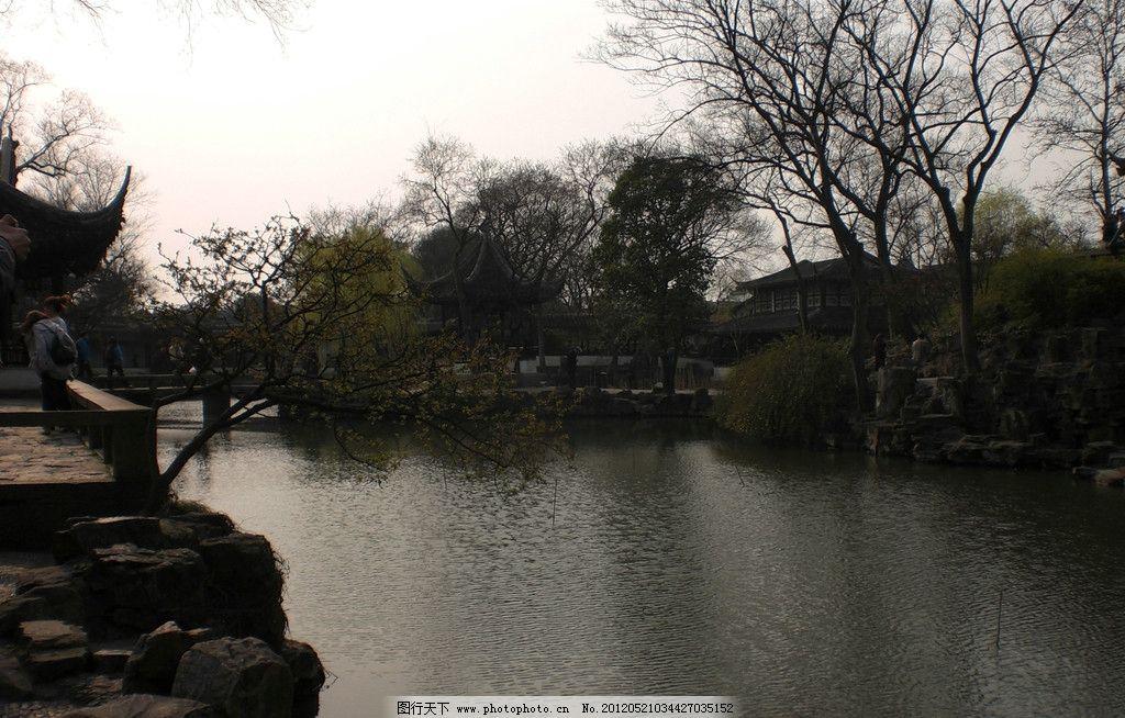 苏州园林 湖水 树木 风景