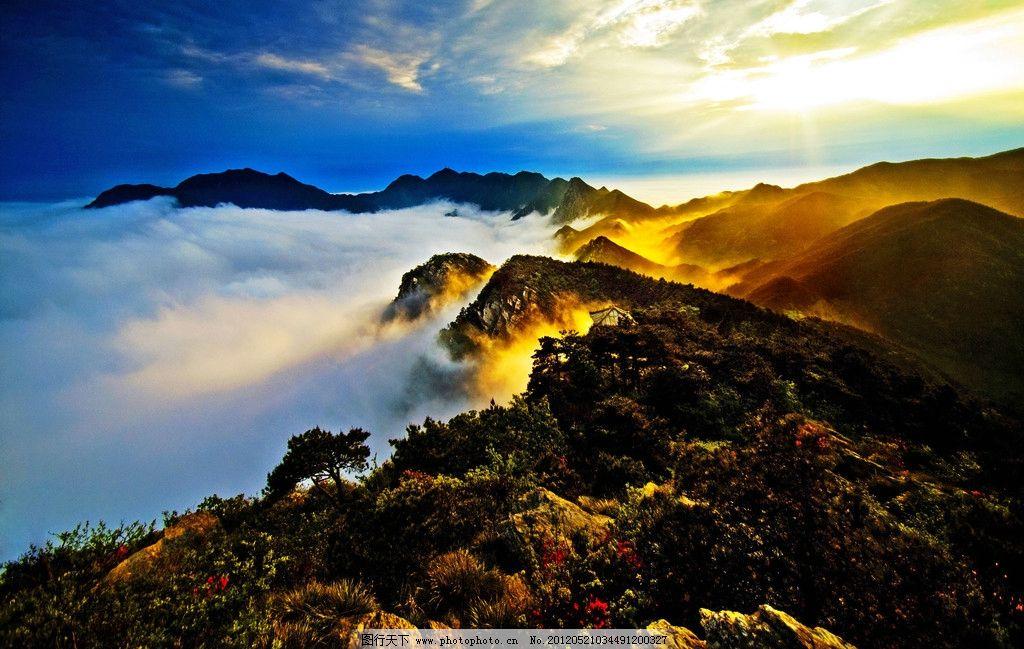 庐山五老峰 江西 九江 山峦 蓝天 云层 山水风景 自然景观 摄影