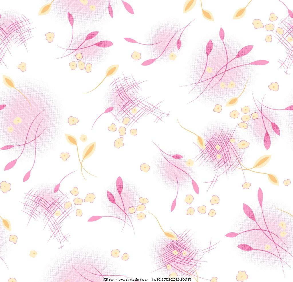 布匹 小黄花 网点 小叶子 粉色花 睡衣图案 背景底纹 底纹边框 设计 1