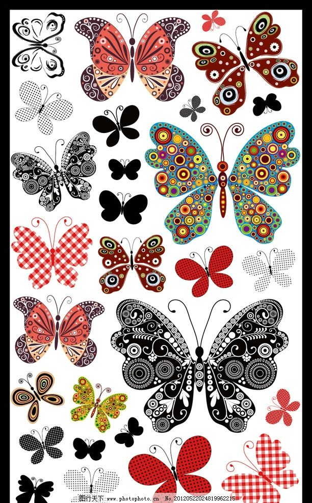 花边 花 条纹 图案 高清 漂亮 绘画 艺术 印刷 贴纸 流行 时尚 生物