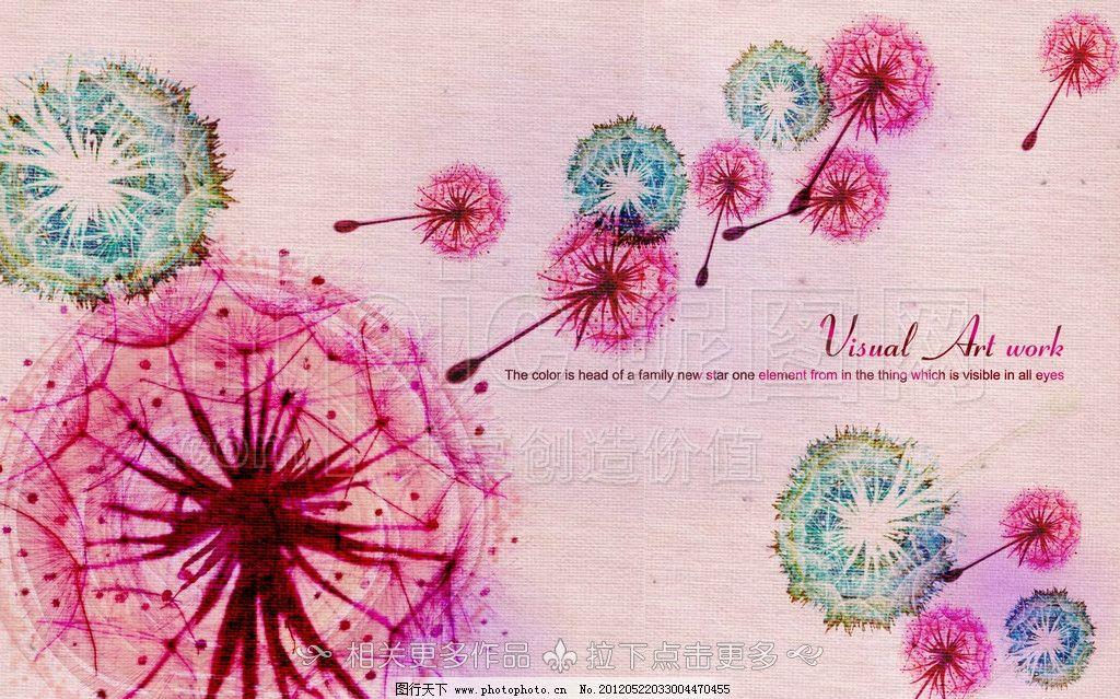 蒲公英 蒲公英插画 手绘蒲公英 花卉插画 手绘花朵 手绘植物 白描画