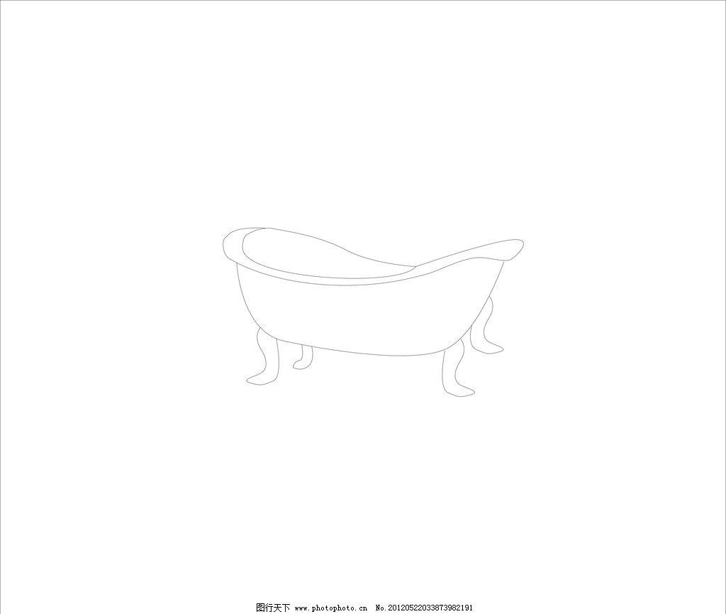 简笔画浴缸卡通