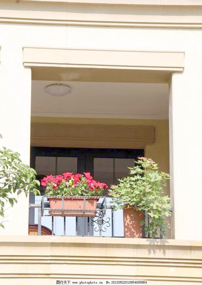 绿植 欧式建筑 摄影 欧式建筑图片素材下载 欧式建筑 花卉 绿植 窗户