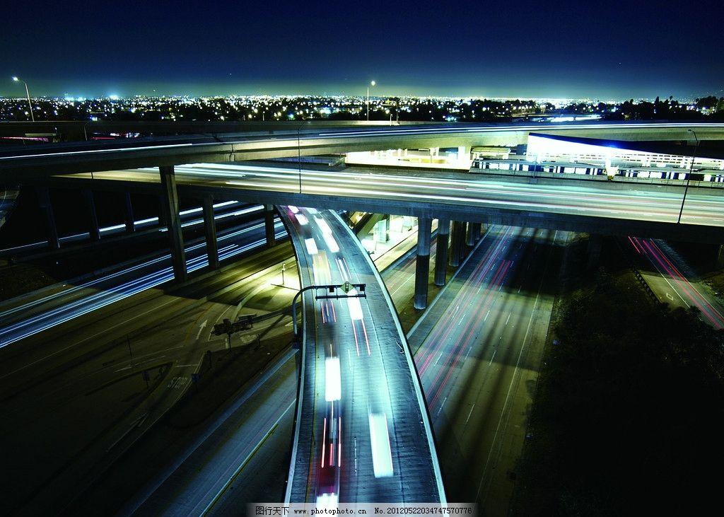 城市 城市夜景 公路 高速路 交叉路口 企业文化 快速发展 建筑景观图片