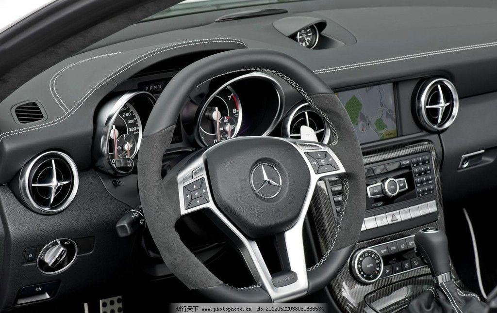 奔驰方向盘自拍_奔驰slk 汽车 豪车 跑车 车厢内饰 局部 方向盘 中控台 仪表盘