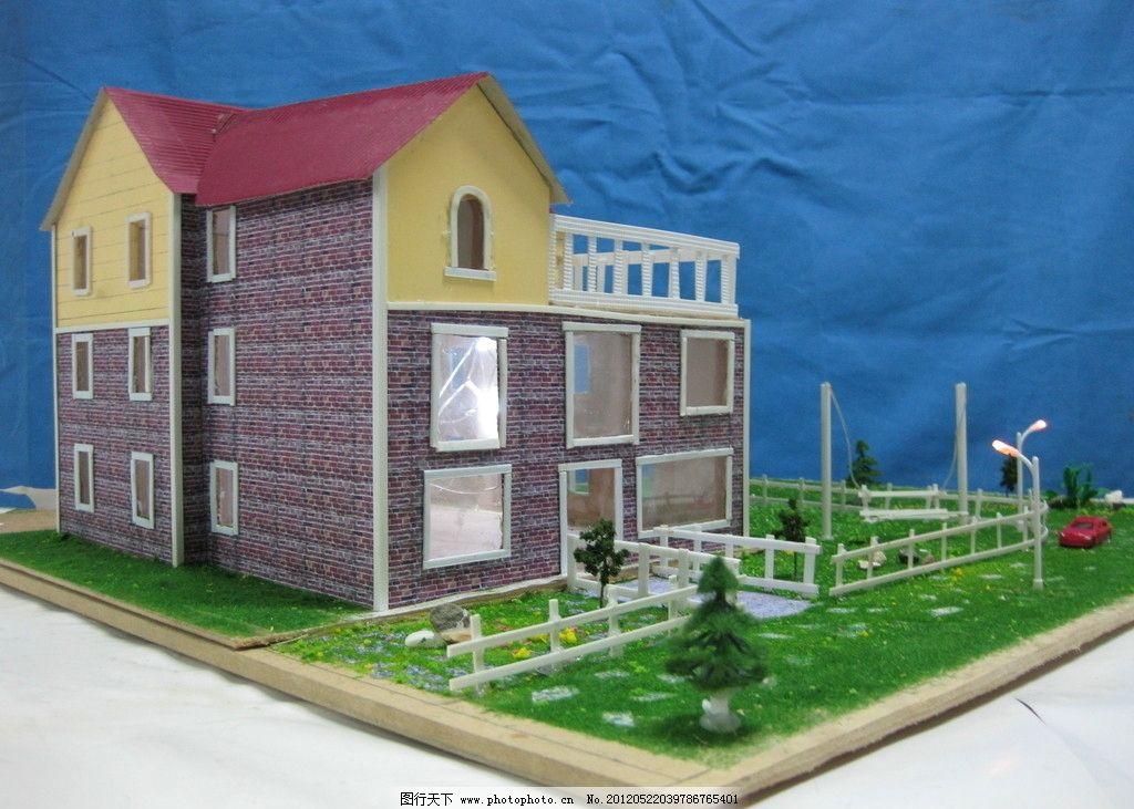 别墅模型照片图片