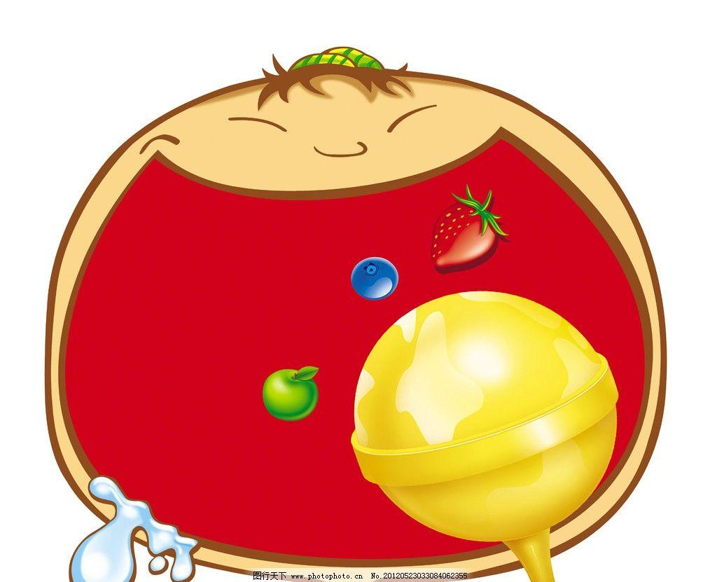卡通大嘴巴 卡通 表情 吃水果 吃东西 棒棒糖 大嘴巴 水果卡通 水果