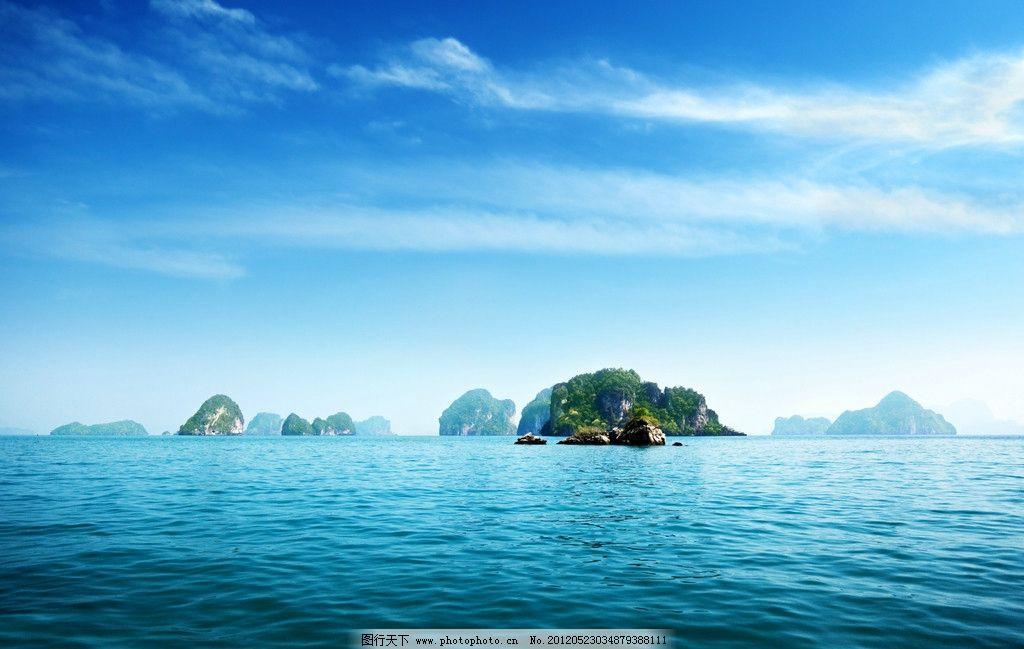 海岛风光 海洋 水 岛 陆地 蓝色海洋 岛屿 海水 绿色植物 植被 绿化