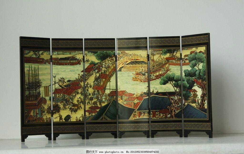 清明上河图 吉祥图案 中国风格图片 屏风设计 传统文化 文化艺术 摄影
