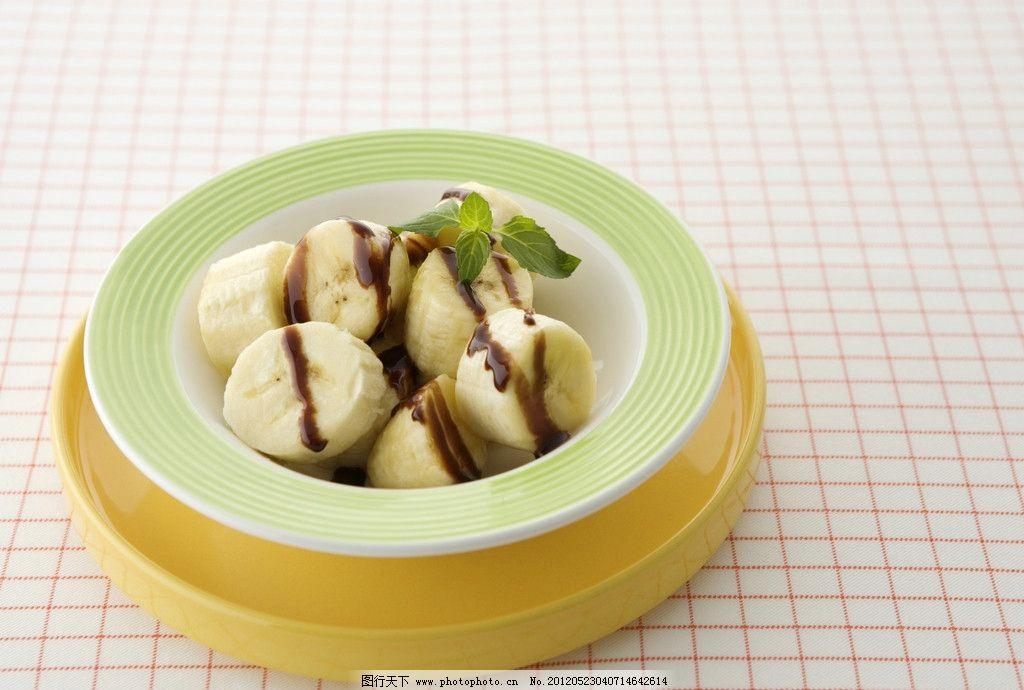 水果拼盘 水果 高清 香蕉 巧克力酱 甜点 健康 营养 瘦身 低脂 其他