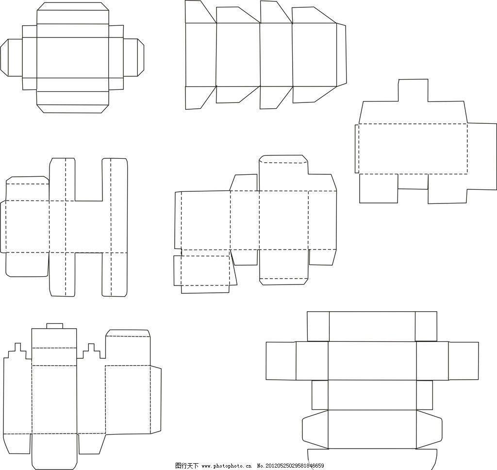 包装结构矢量图形 电子产品包装 矢量线框图 精心挑选 熬夜绘制 广告