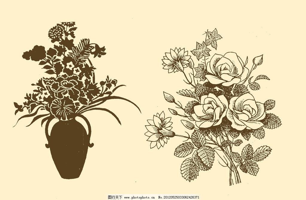 插画 插图 版画 简笔画 风光 装饰画 黑板报 植物 钢笔画 花卉 花束