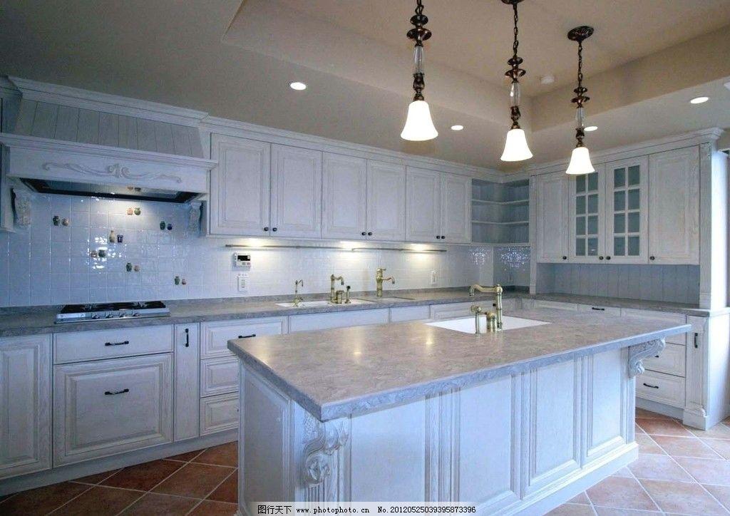 现代厨房样板实景 餐厅 样板房 装潢 装修 欧式 室内摄影 装饰