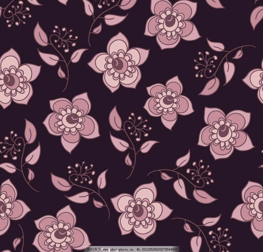 可爱时尚花纹花朵 卡片图片