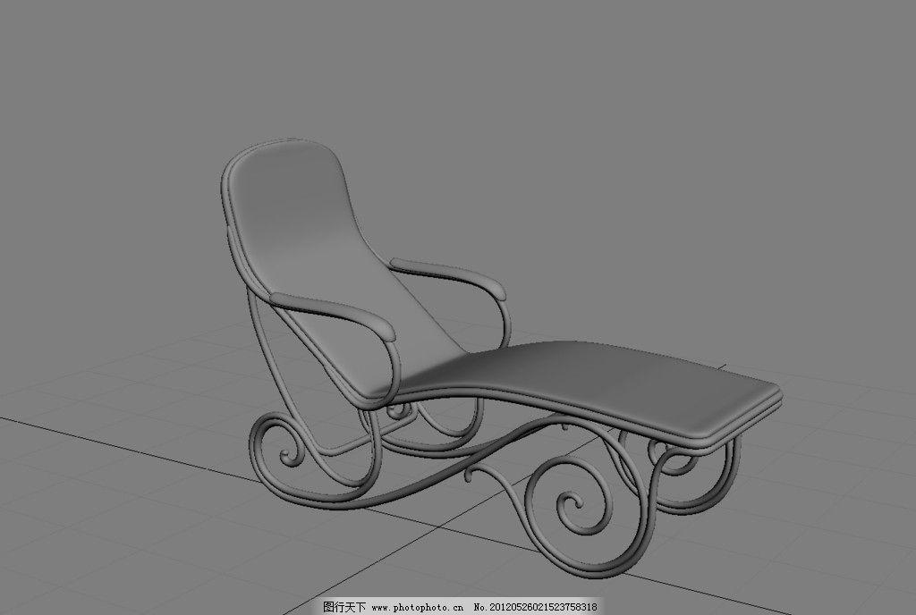 椅子设计手绘尺寸图