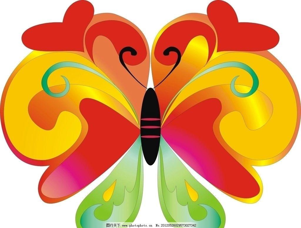彩色蝴蝶 七彩斑斓的蝴蝶 蝴蝶 美丽的蝴蝶 广告设计 矢量 cdr