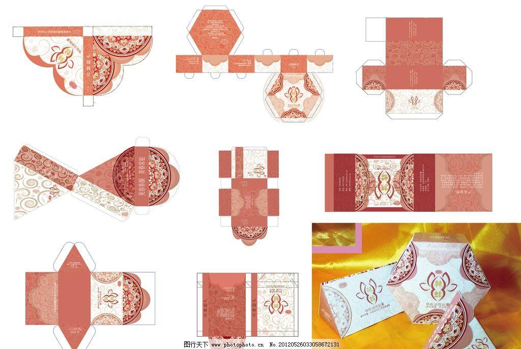礼盒展开结构设计图 礼盒 展开结构 设计图 异型 粉红 红色 喜庆 古典花纹 展开图 结构图 制作工艺图 高档礼盒 包装设计 广告设计模板 源文件 300DPI PSD 异型礼盒展开结构图 PSD分层素材